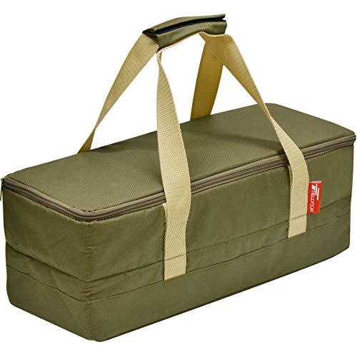 FIELDOOR マルチツールボックス 【Sサイズ/カーキ】 ペグケース 40cmペグも収納可能 仕切り付 折りたたみ 道具入れ 小物入れ キャンプ用品 ツールバッグ