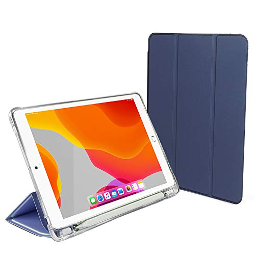 A-BEAUTY Fit New iPad 8th/7th Generation10.2 2020/2019 Smart Case with [Apple Pencil Holder][ Ultra Thin][ Auto Wake/Sleep],Navy Blue