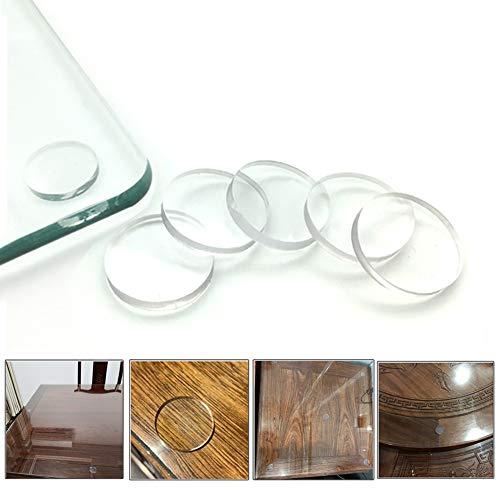 Durchsichtige Glas-Tischstoßstangen aus weichem Material zur Steuerung der Bewegung der Glas-Tischplatte Kunststoffstoßstange für Tischglasplatte, Gummipuffer