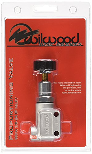 Wilwood Proportioning Valve, 3 8-24 in Inverted Flare Female Inlet, 3 8-24 in Inverted Flare Female Outlet, Adjustable 100-1000 psi, Knob Type, Aluminum, Each, Natural