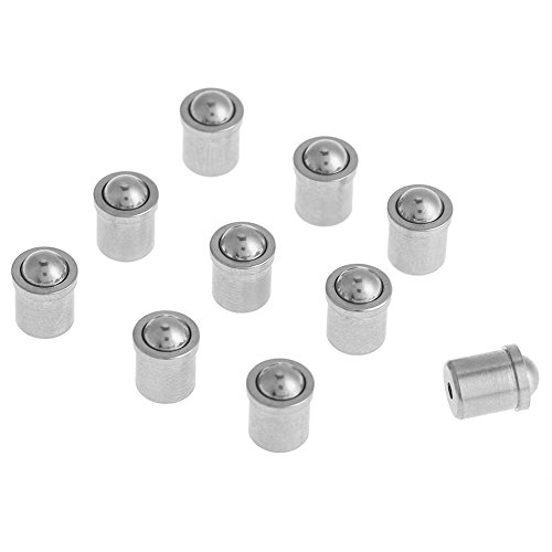 10Pcs Ball Plunger, 304 Stainless Steel Push Fit Ball Spring Plunger 5mm6mm Body, for Mechanical Devices, Clamps, Molds, Automatic Machines, etc