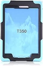 Samsung Galaxy Tab A T350 8inch Dust ShockProof Rubber Heavy Duty Hard Case Cover Light Blue