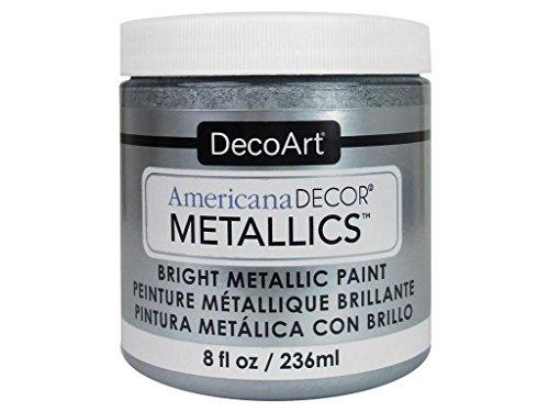 Deco Art Americana–Decoración Jarra de metálico de Pintura, acrílico, Plata, 7x 7x 8cm