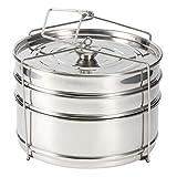 ZLJ Olla de Vapor apilable de Acero Inoxidable de 3 Niveles Juego de ollas de Vapor para cocinar Accesorios para ollas a presión