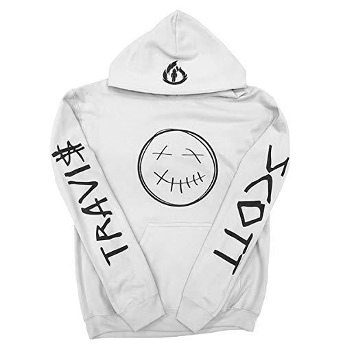 XMXWQ Travis Scott AstroWorld Hoodie Hip Hop Sport Pull pour Les Fans des Hommes,White1,XXL