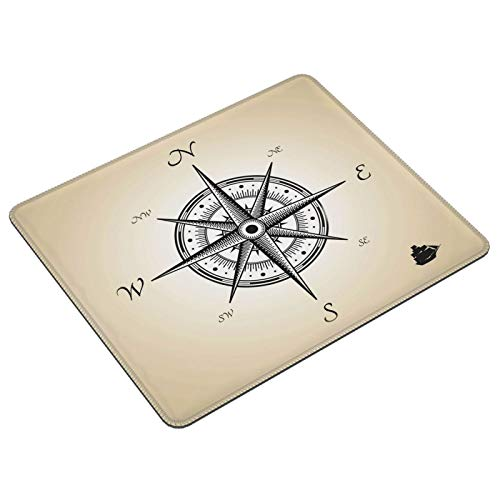 Compass Sketch Vintage Nautical Theme Gaming Mouse Pad Mouse Pads Laptop Computer...