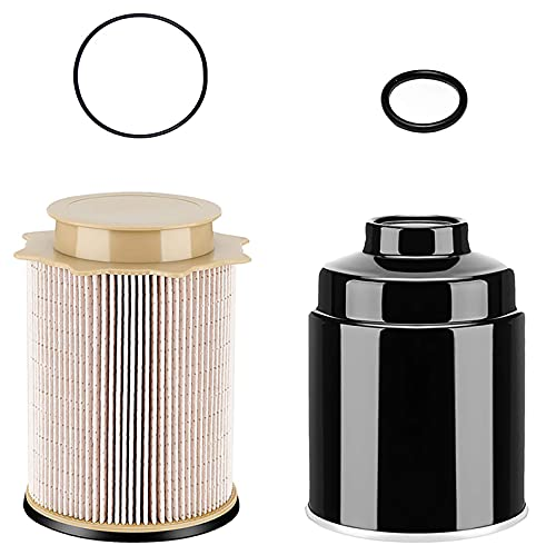 6.7L Fuel Filter Water Seperator Oil Filter Kit Compatible with Dodge Ram 2013-2018 2500 3500 4500 5500 6.7L Cummins Turbo Diesel Engines, Fuel Filter Water Separator Set Replace 68197867AA 68157291AA