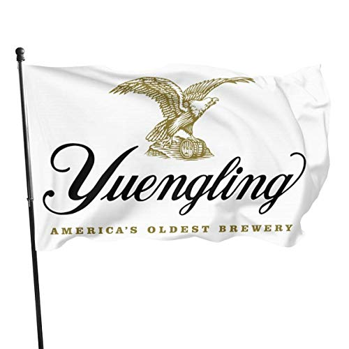 huatongxin Yuengling Beer Logo Flagge 3x5 Ft Grommets Tough Durable Fade Resistant for All Weather Outdoor