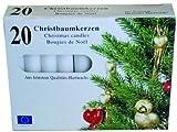 40 Christbaumkerzen - Baumkerzen - weiß