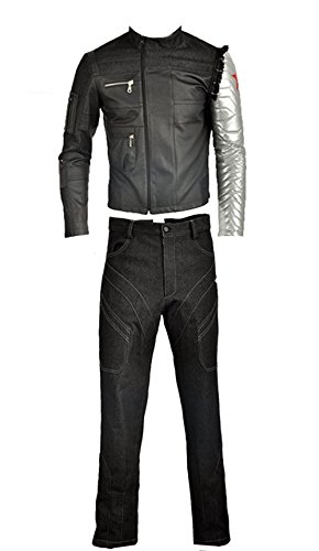 cosplayfly Adulto Captain America Bucky Barnes Cosplay Costume Full Set
