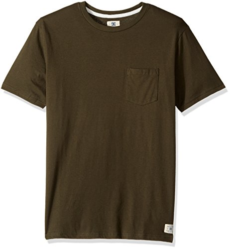 DC Men's Basic Pocket Tee Shirt, Fatigue Green, 2XL