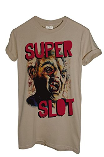 MUSH T-Shirt SUPERSLOT The Goonies - Film by Dress Your Style - Uomo-XL-Sabbia