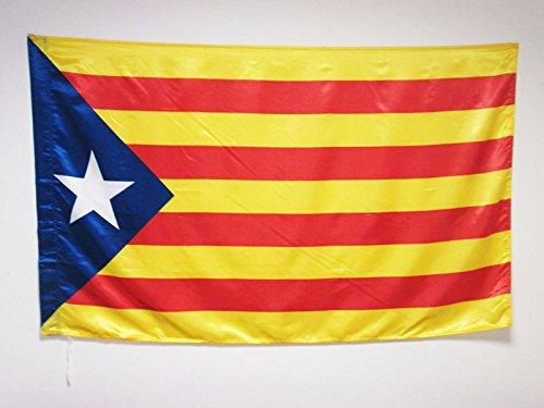 AZ FLAG Flagge KATALONIEN ESTELADA BLAVA 150x90cm Satin - AUTONOMEN KATALANISCHEN Fahne 90 x 150 cm - flaggen Top Qualität