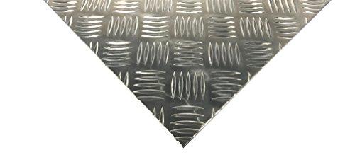 Alu Riffelblech 5/6,5mm Aluminium Blech Quintett Warzenblech Tränenblech Zuschnitt Wunschmaß möglich (300x200mm)