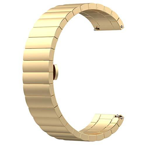 Pulsera de Repuesto de Acero Inoxidable de Cloodut, aleación de Aluminio, Duradera, Muy a la Moda, Adecuada para Cualquier ocasión, para Hombres y Mujeres