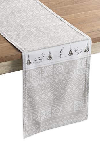 Maison d' Hermine Cozy Christmas Tischläufer aus 100% Baumwolle für Partys | Abendessen | Feiertage | Küche | Thanksgiving/Weihnachten (50 cm x 150 cm)