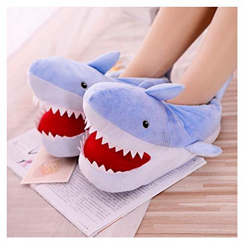 EDOSTORY Kreative Lustige Pantoffeln, Niedliche Hai Kreative Hausschuhe, Hausschuhe rutschfeste Boden Hausschuhe Hausschuhe Schuhe,Blau,EU38