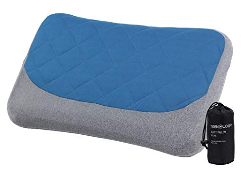 Inflatable Pillow for Camping Removable Cover, Camping Pillows for Sleeping, Backpacking Pillow, Hiking Pillow, Compact Ultralight Blow Up Air Travel Inflating Pillow, Compressible Small Lightweight