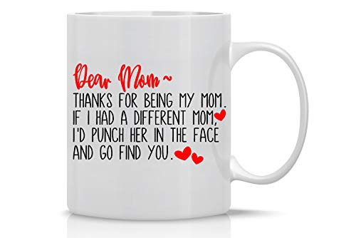 CBT Mugs - Taza de café divertida con texto en inglés «Thank For Being My Mom»