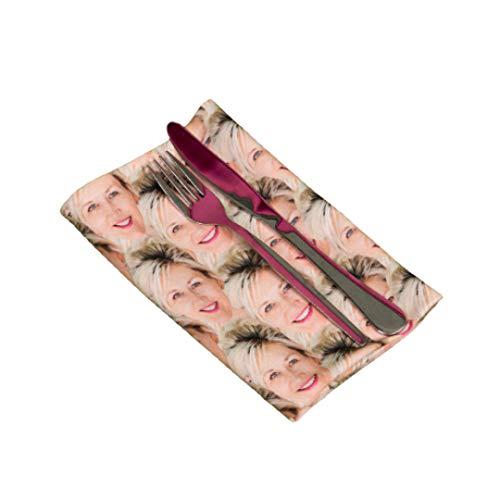 Nifty Gifty Servilleta personalizada para la cara, lavable, toalla personalizada, ideal para bodas, fiestas, cenas de vacaciones y más regalos para mujeres y hombres, añade tu foto