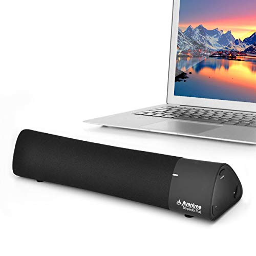 Avantree AptX Low Latency Bluetooth Speaker, Portable Wireless Sound Bar, Digital Signal Processing DSP with Superb Sound, Multiple Sound Modes - Torpedo Plus