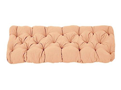 Ambientehome Coussin de Banc de Jardin EVJE, 2 Sièges, Coton, ca. 120 x 50 x 8 cm, Ton Abricot, 120x50x8 cm