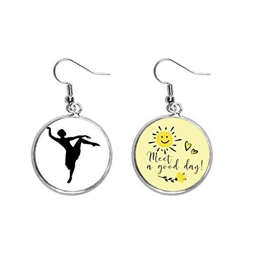Dance Dancer Performance Art Sports Ear Drop Sun Flower Earring Jewelry Fashion