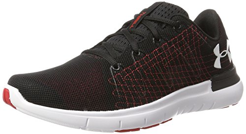 Under Armour Men's Black/Red/White Running Shoes - 7 UK/India (41...