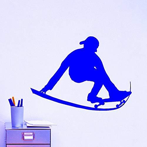 Zaosan Schwarzer Kunststoff Schlittschuhe Skateboard Sport Wandaufkleber Extremsportarten SerieStartseiteSpezialdekoration Wand EIS Ärmel schwarzer Kunststoff Tapete56x48cm
