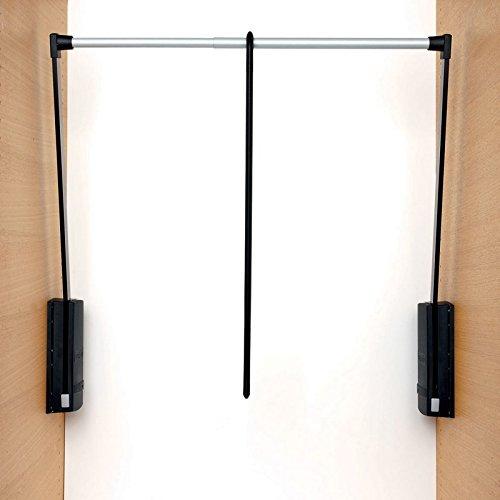 Appendiabito saliscendi per armadio Servetto2004 cm 60-100 - Nero/Grigio