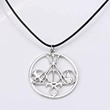 Harry Potter Percy Jackson Hunger Game Divergent Pendant Necklace. Silver