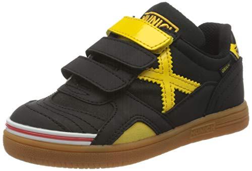Munich Gresca Kid VCO 02 S Zapatillas de Deporte, Niño, (Negro/Amarillo 606), 32 EU