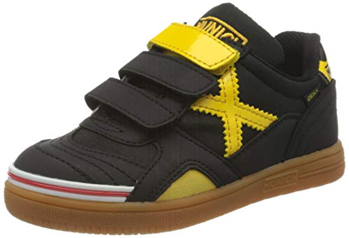 Munich Gresca Kid VCO 02 S, Zapatillas de Deporte Niño, Negro (Negro/Amarillo 606), 29 EU