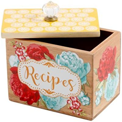 Blossom Jubilee Recipe Box, 6.2 inches