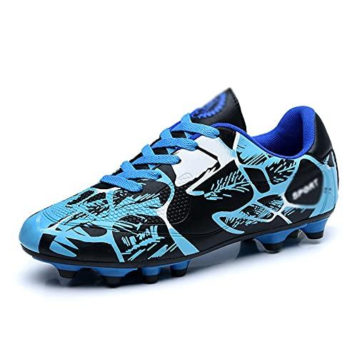ZGRNB Hombres y Mujeres jóvenes Que entrenan Zapatos de fútbol en césped Artificial Deportes al Aire Libre 31-40