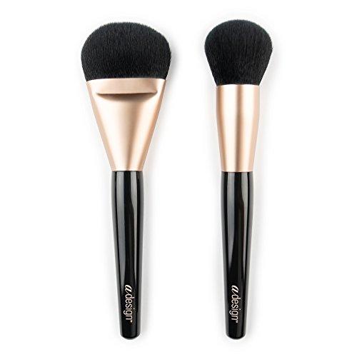 aDesign Professional Lot de 2 pinceaux de maquillage – Flawless Foundation Power Duo