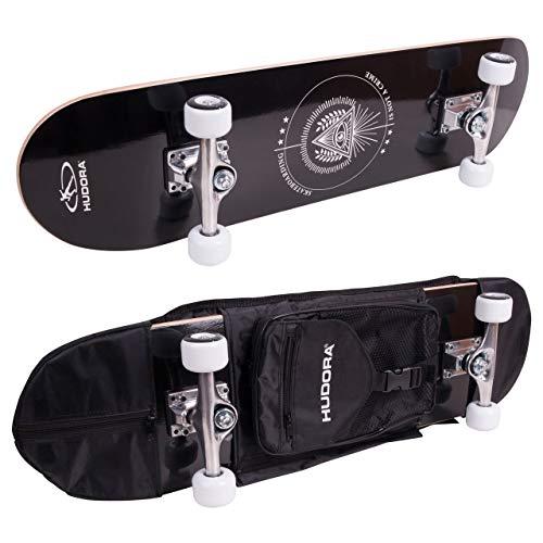 Hudora - Monopatín de Skateboard Columbia Heights ABEC 3con Mochila,Skateboarding, 12173