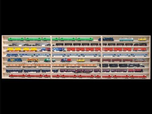 Alsino 2,10 m 8Fach HO Vitrine für Märklin, Regal mit Nuten für Spur H0 3E41ALRM … B00469XPXK
