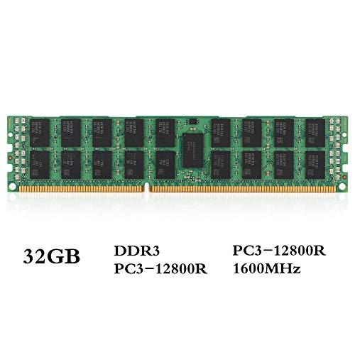 DDR3 RAM, DDR3 32 GB geheugen, 1600 MHz, 1,5 V, PC3-12800R, 240Pin, 4R * 4 ECC-REG servergeheugen X58 X79, hoogwaardig desktopgeheugen voor universele moederborden
