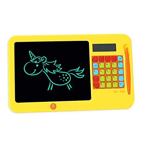 Juguetes de los niños LCD LIGHTWWEY Tableta de escritura de 8,5 pulgadas LCD para niños Panel plano limpio Dibujo electrónico Calculadora para estudiantes fáciles de usar (Color: Amarillo, Tamaño: 8.5