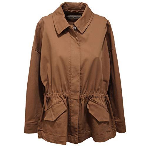 MaxMara 3951AC Giubbotto Donna Weekend Brown Cotton Jacket Women [IT 44]