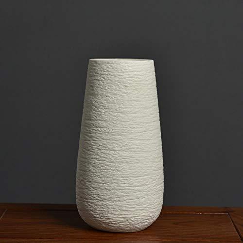 ABQ - Jarrón de cerámica blanca para decoración de escritorio, decoración de oficina