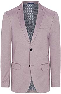 Tarocash Men's Clooney Textured Blazer Cotton Polyester Blend Sizes Small - 5XL for Going Out Smart Occasionwear