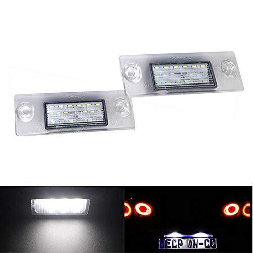 Boomboost 2pcs 24 LED numéro de Plaque d'immatriculation numéro de la Lampe de Plaque d'immatriculation Lampe arrière pour Audi A4 B5 A3 8L S5 B5 A3 S3 A4 S4