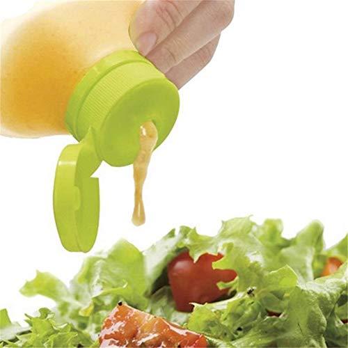 2 pz Semplice Dispositivo di Insalata Mini Salsa di Salsa di Silicone Bottiglia di Salsa per Ketchup Senape Maionese Condimento Bottiglia
