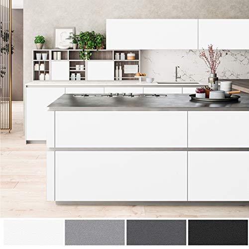 Autoadhesivo Mate Papel Pintado Muebles de Cocina, Vinilo, Blanco, 61 x 500 cm, Papel Pintado Pared Adhesivo para Pared, Muebles