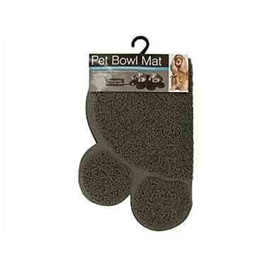Kole KI-OF456 Easy Clean Paw Print Pet Bowl Mat, One Size