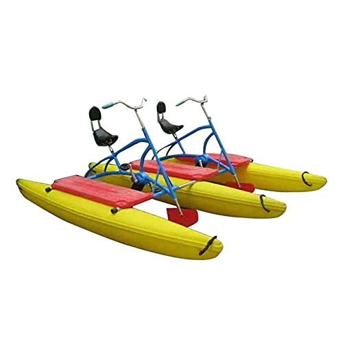 HXXXIN Bicicleta De Agua para 2 Personas, Bicicleta De Agua De Ocio Y Entretenimiento, Bicicleta De Agua De Doble Pedal, Proyecto De Flotador De Agua, Equipo De Lago