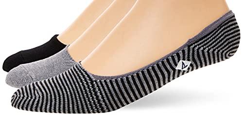 Sperry Men's Marl Half-Cushion 3 Pack Liner Socks, Black/Charcoal Heather, Shoe Size: 6-12
