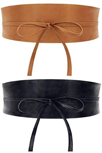 Coucoland 2 cinturones anchos, para mujer, estilo vintage